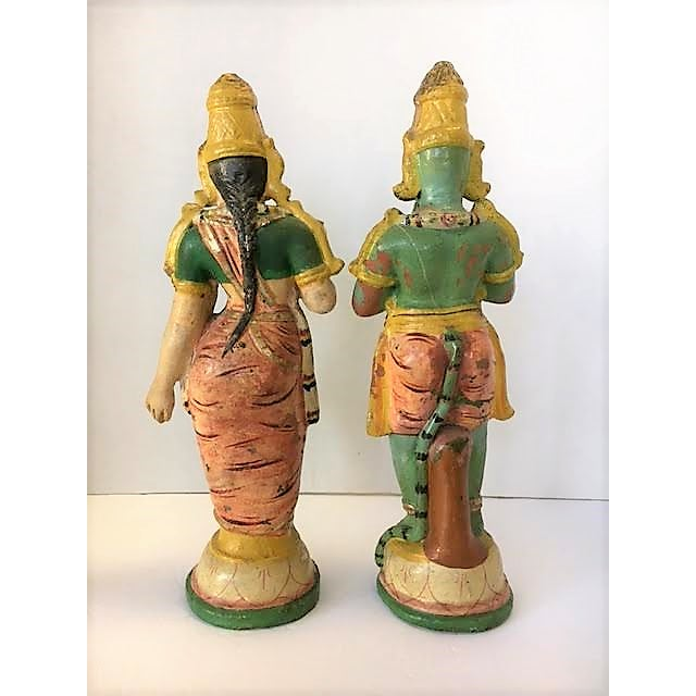 Terra Cotta Indian Figurines - A Pair - Image 4 of 7