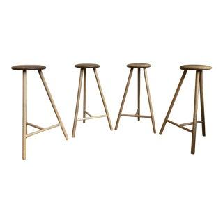 Contemporary Nikari Perch Bar Stools - Set of 4 For Sale