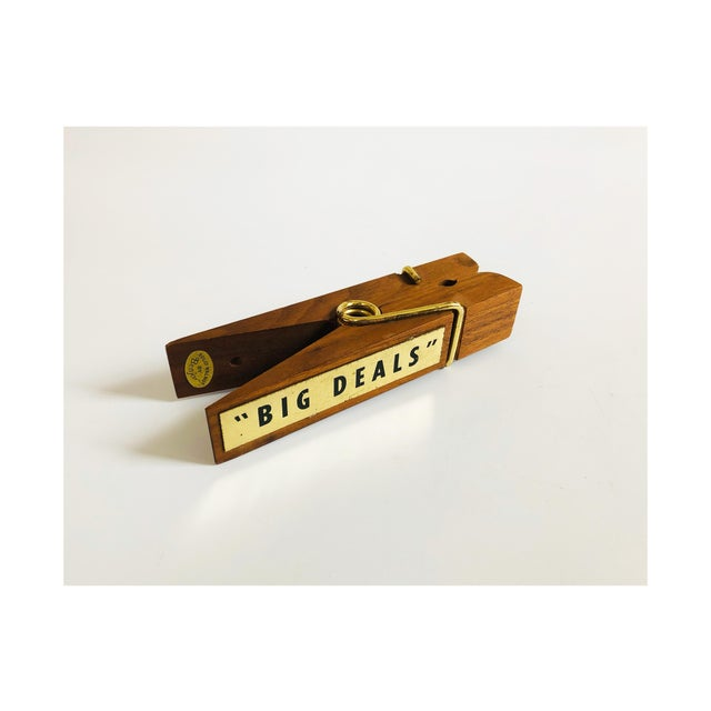 Vintage Wood Note Clip For Sale In San Francisco - Image 6 of 6