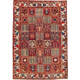 Pasargad Persian Bakhtiari Pannel Design Rug Lamb's Wool Rug - 6′10″ × 10′ For Sale