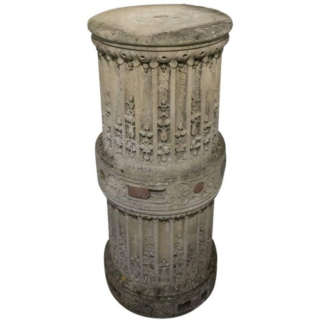 French Sculpted Stone Column From the Chateau De Mouchy For Sale - Image 3 of 6