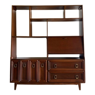 1950s Mid Century Free Standing Bookcase For Sale