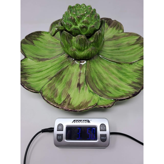 Vintage Artichoke Platter and Serving Bowl and Spoon For Sale - Image 10 of 11