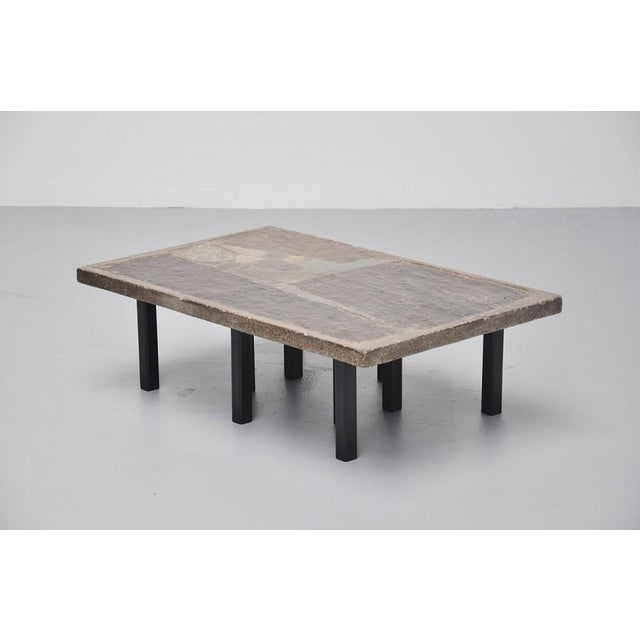 Paul Kingma rectangular coffee table in stone and concrete 1963 - Image 4 of 7