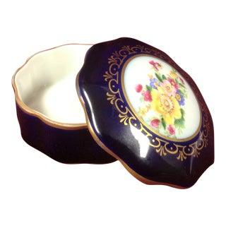 Jlmenau Echt Kobalt Porcelain Pin/Trinket Dish