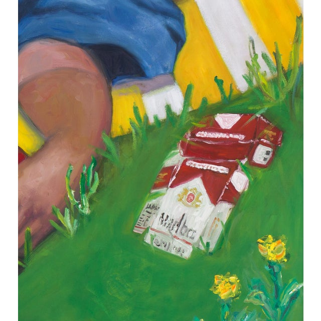 Contemporary Contemporary Portrait of People in Park Painting For Sale - Image 3 of 5