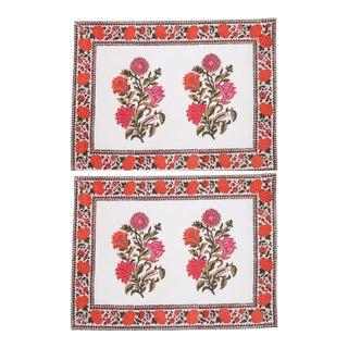 Sanya Placemats Pink & Orange - A Pair For Sale