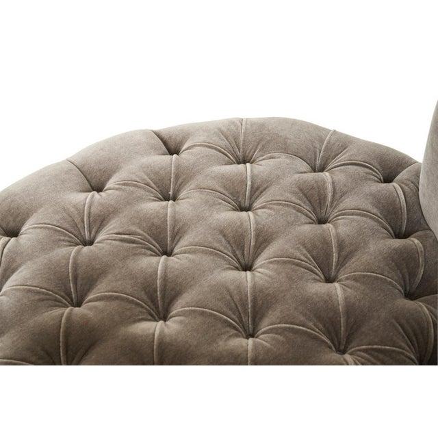 Harvey Probber Harvey Probber Large Tufted Swivel Chair on Chrome Base For Sale - Image 4 of 7