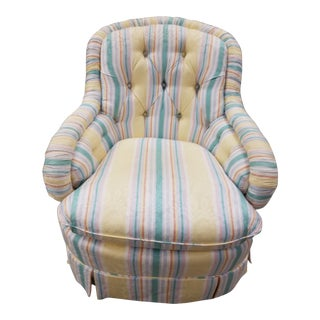 Baker Furniture Tufted Bridgewater Club Chair For Sale