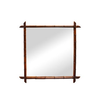 Early 20th Century French Faux Bamboo Mirror For Sale