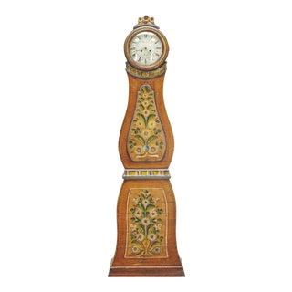 Antique Gustavian Swedish Mora Clock For Sale