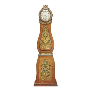 Gustavian Hand Painted Mora Clock For Sale