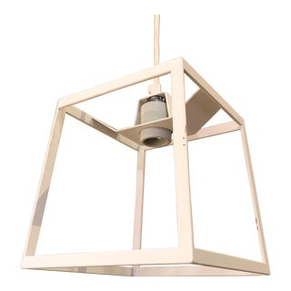 Iacoli & McAllister White Cube Frame Light For Sale