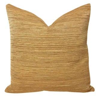 Brunschwig & Fils Trujillo Chenille Ochre Pillow Cover For Sale