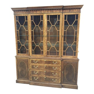 Hickory Chair Company China Cabinet Breakfront
