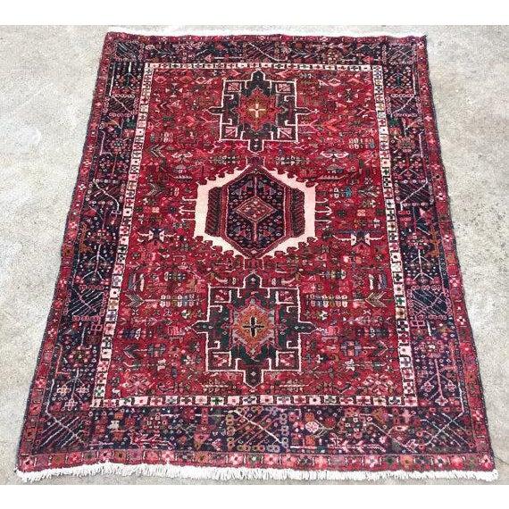 Antique Persian Karajeh Rug - 5′1″ × 6′2″ - Image 2 of 6