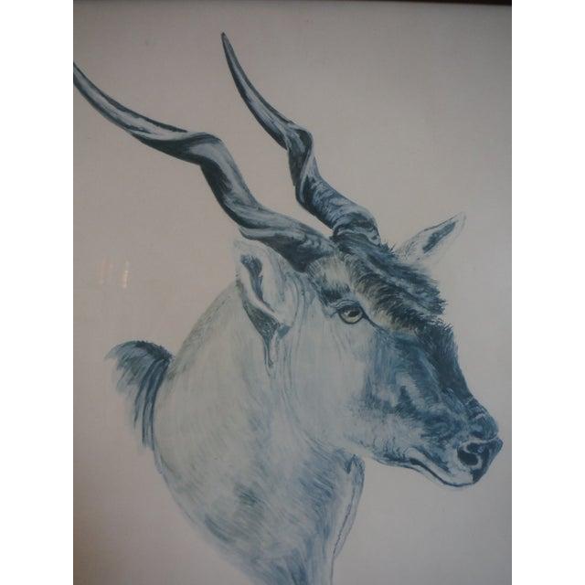"""""""Savannah Animal's"""" Pen & Ink Drawings - A Pair - Image 4 of 10"""