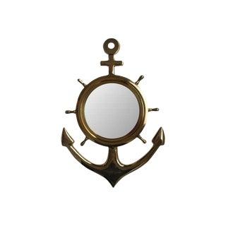 Brass Anchor Mirror