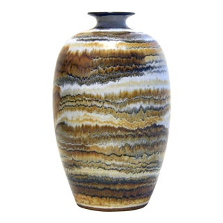 Glenn Spangler Studio Pottery Vase 1970-80s For Sale