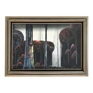 Large Vintage Gothic Forest Oil Painting Reproduction For Sale