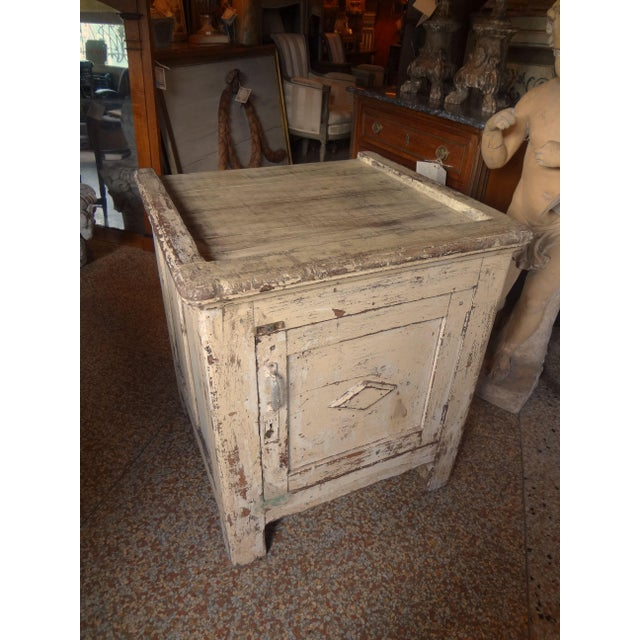 Late 19th Century Rustic French One Door Cabinet For Sale - Image 10 of 12