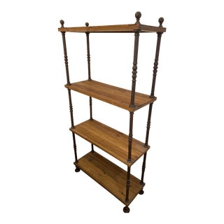 Arts and Crafts Etagere Wooden Bookcase For Sale