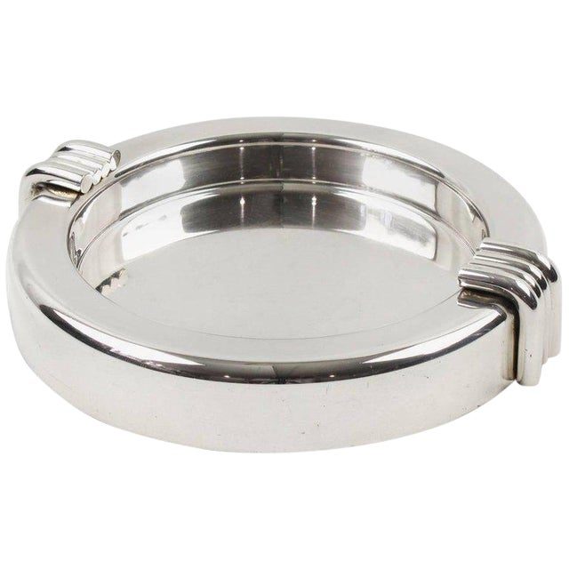 Christian Dior Mid-Century Silver Plate Cigar Ashtray - Image 1 of 7