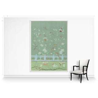 Casa Cosima Green Indra Diptych Mural - Sample Preview