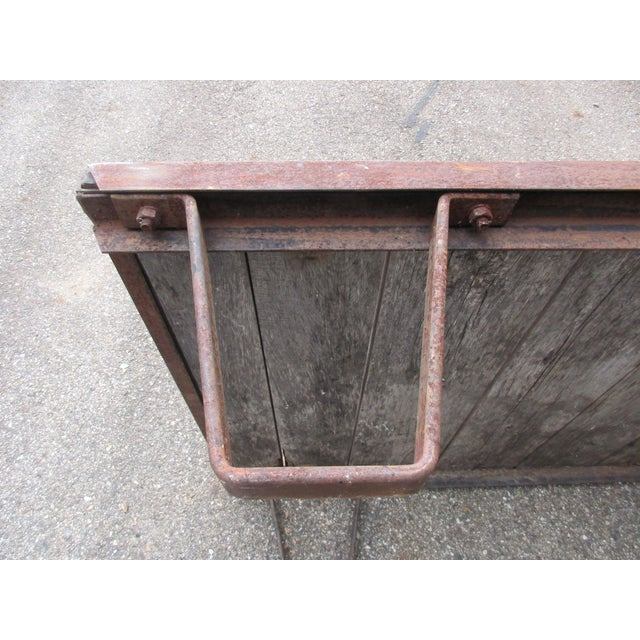 Industrial 20th Century Industrial Pallet/Coffee Table For Sale - Image 3 of 12