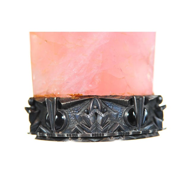 Pink 19th C. Russian Sterling Mounted Rose Quartz Seal For Sale - Image 8 of 9