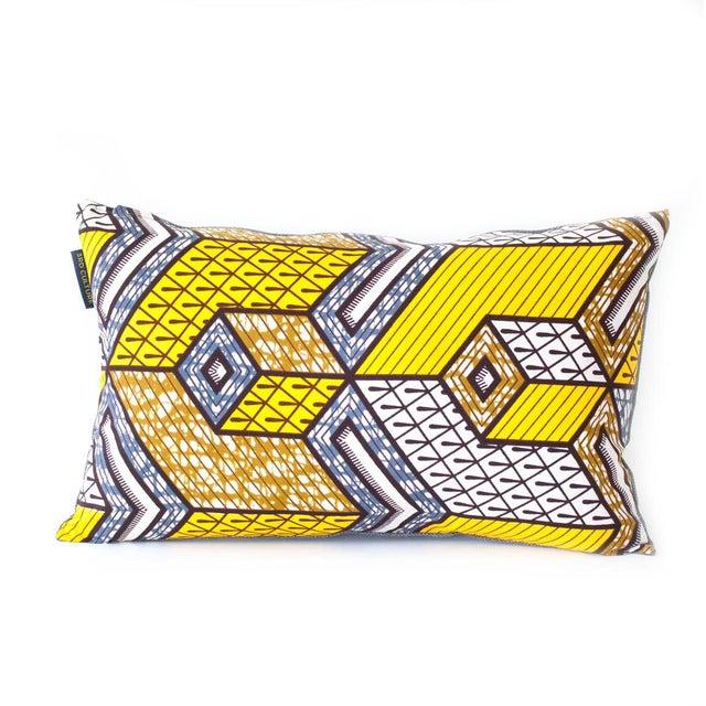 Yellow Wax Print Rectangular Pillow Cover - Image 2 of 5