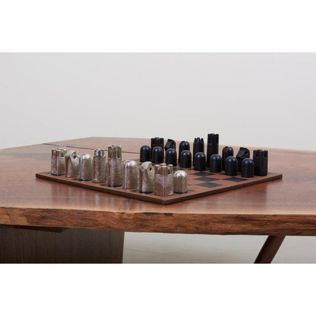 Mid-Century Modern Modernist Chess Set #5606 by Carl Auböck For Sale - Image 3 of 11