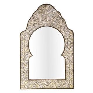 Antique Moroccan Bone Inlay Mirror