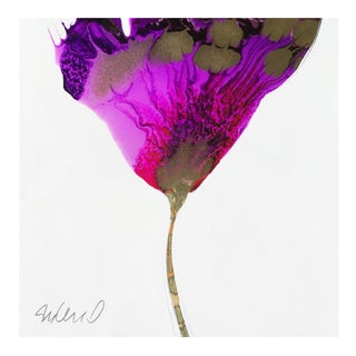 """Purple Transition"" Original Poured Resin Botanical Art For Sale"