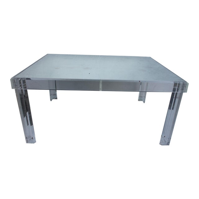 VJJ 1978 Signed Lucite Dining Table For Sale