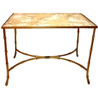 Vintage French Coffee Table by Maison Bagues For Sale