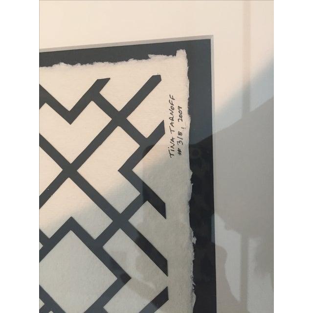 Framed Ikat Handmade Art - Pair of 2 - Image 7 of 10