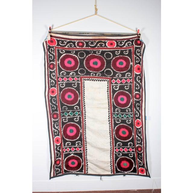 Embroidered Vintage Prayer Suzani - Image 2 of 7