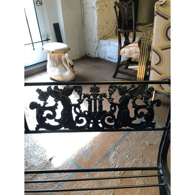 Neoclassical Iron Bench by German Architect Fred Shingle For Sale In Atlanta - Image 6 of 13
