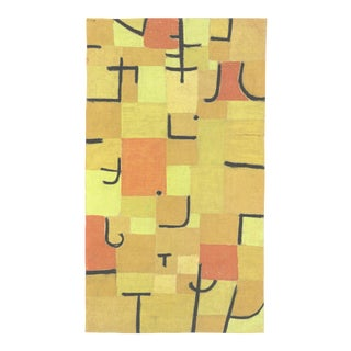 """Paul Klee Characters in Yellow 31.5"""" X 23.5"""" Offset Lithograph 2018 Abstract Yellow, Orange For Sale"""