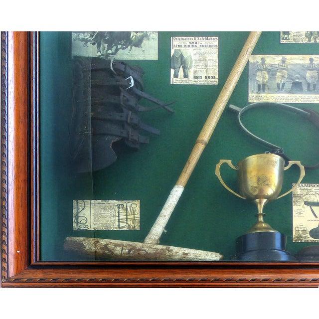 Green Vintage Polo Memorabilia Shadow Box For Sale - Image 8 of 10