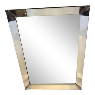 Art Deco Style Beveled Glass Wall Mirror For Sale