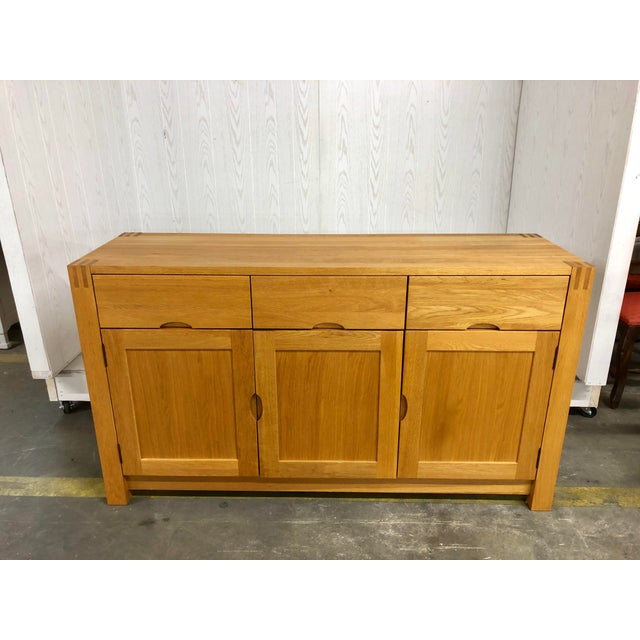 1900s Danish Modern Oak Dresser For Sale - Image 10 of 10
