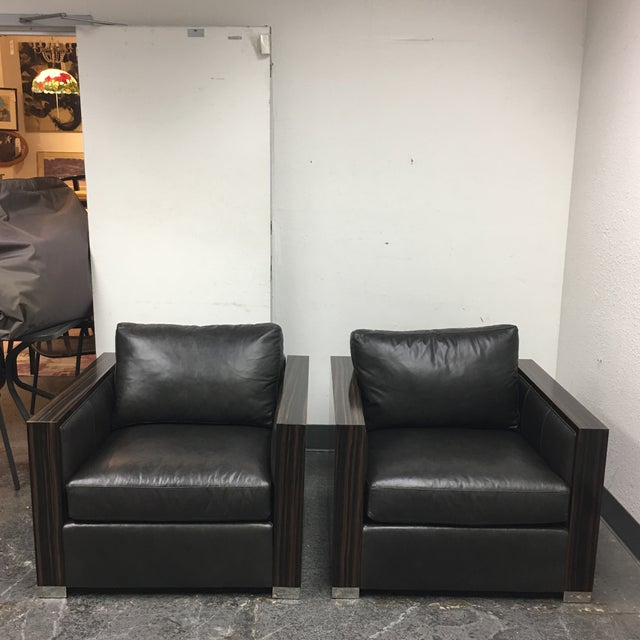 Bernhard Soft Leather Chairs - a Pair - Image 2 of 10