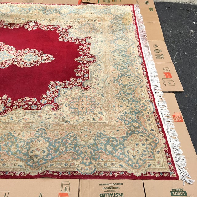 Medallion Persian Hand Knotted Rug - 9′2″ × 16′4″ - Image 6 of 7