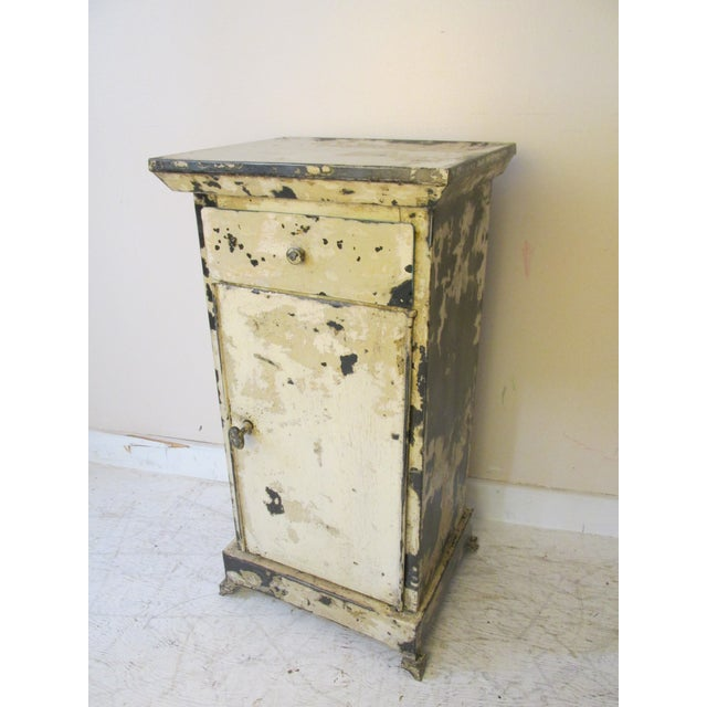 Antique French Shabby Chic Nightstands - A Pair - Image 3 of 10