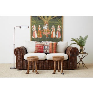 Ralph Lauren Home Polo Collection Woven Rattan Settee Preview