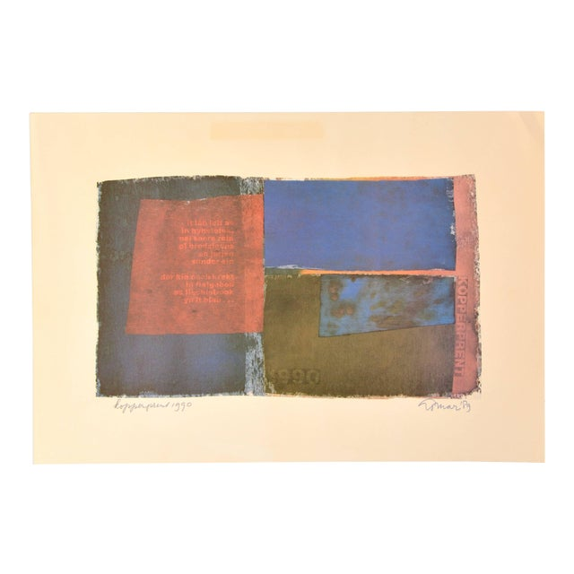 Signed Composition by Jan Loman, 1990 For Sale