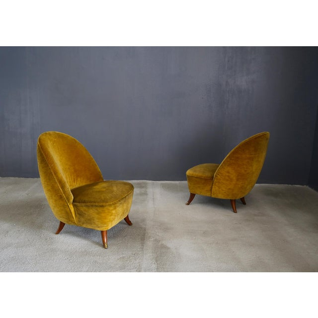 Guglielmo Ulrich Armchairs From 1950 With Original Fabric For Sale - Image 6 of 6