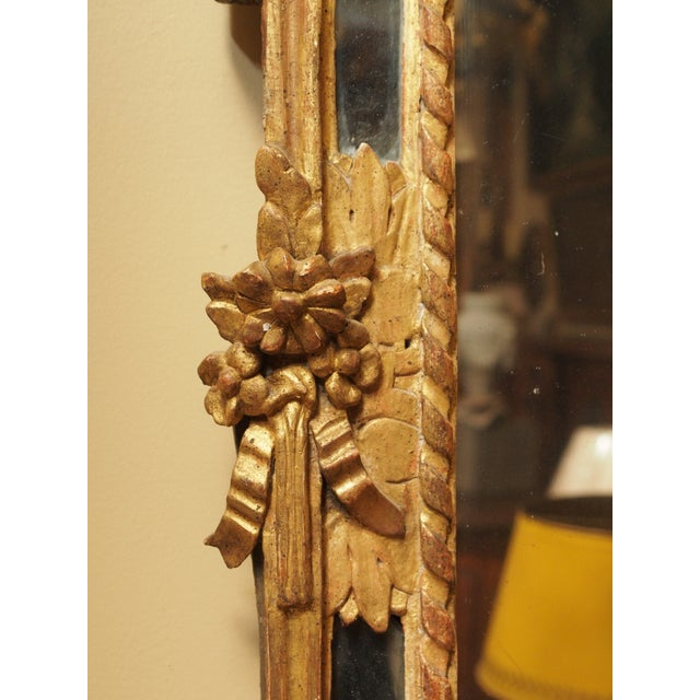 Louis XVI Epoch Louis XVI Gilt Wood Mirror For Sale - Image 3 of 9